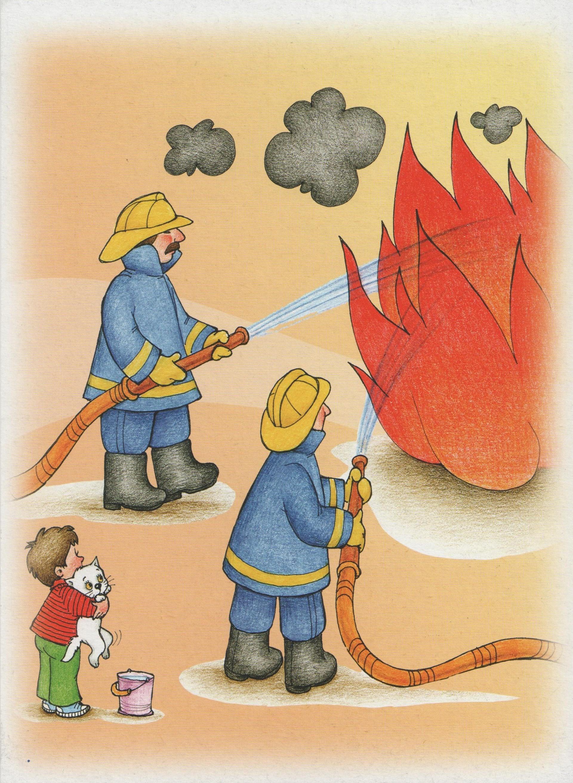 Рисунок про пожар для детей