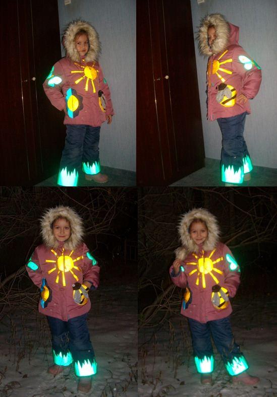 Светоотражающий элемент своими руками